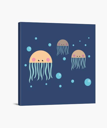 Lienzo Jellyfish Friendship