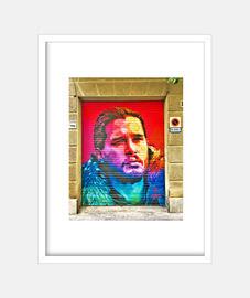 John Snow - Cuadro con marco blanco vertical 3:4 (15 x 20 cm)