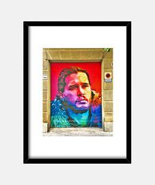 John Snow - Cuadro con marco negro vertical 3:4 (15 x 20 cm)