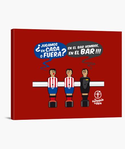 Lienzo JUGAMOS EN EL BAR Atletico LB