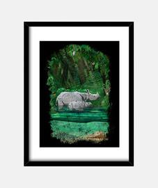 jungle rino t-shirt