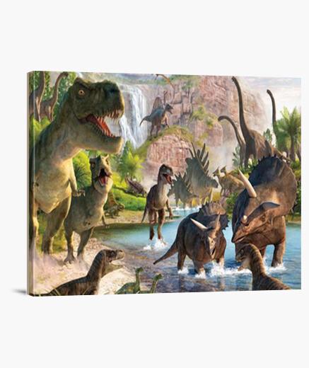 Lienzo Jurassic Dinosaurs