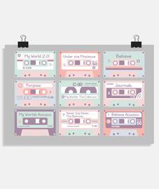 Justin Bieber cassettes.