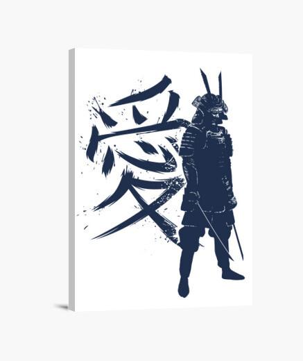 Stampa su tela kanji samurai