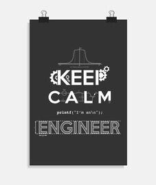 keep calm  je suis ingénieur