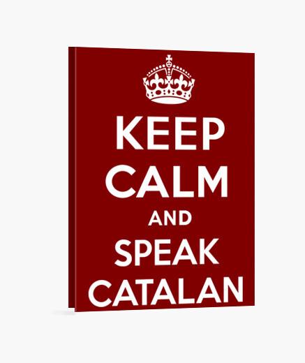 Tableau keep calm and parler catalan