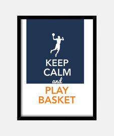 Keep Calm and Play Basket (Hombre)