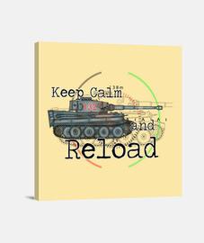 keep calm and recharger le tigre