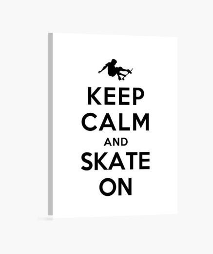 Keep calm and skate on wall art