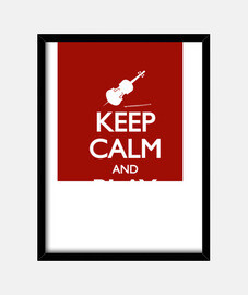 keep calm and violoncello
