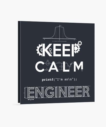 Keep calm, im an engineer canvas