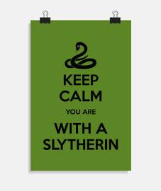 Keep Calm Slytherin poster