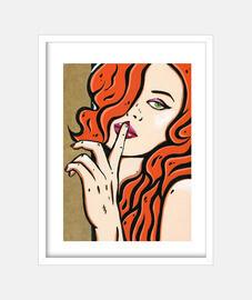 keep me the secret pop art by cristina galvez