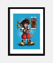 Kingdom Hearts GO Cuadro con marco vertical 3:4 (30 x 40 cm)