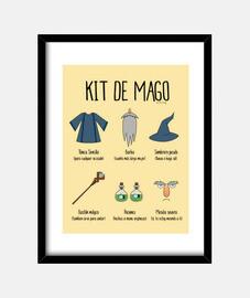 Kit de Mago - Cuadro enmarcado