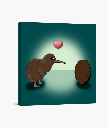 Kiwi in love lienzo