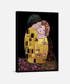 Kokeshi El Beso estilo Klimt