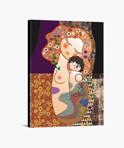 Kokeshi maternity canvas