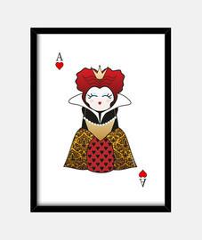 kokeshi queen of hearts