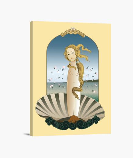 Lienzo Kokeshi Venus estilo Botticelli