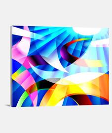 KRAYOLIGHT Arte Abstracto Lienzo Horizontal 4:3 (40 x 30 cm)