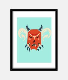 kuker evil mascherina monster