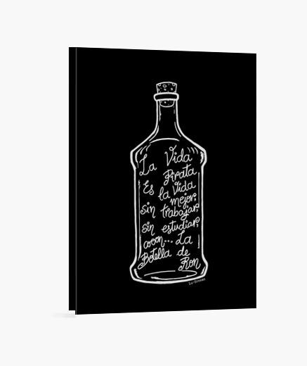Lienzo La Botella de Ron.(blanco)