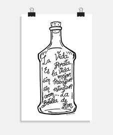 la bottiglia di rum.