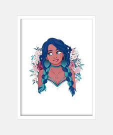 La chica de las flores