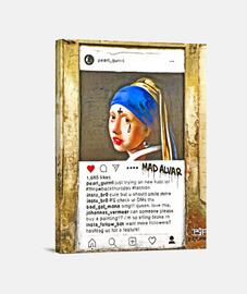 la jeune femme perle - toile verticale 3: 4 - (30 x 40 cm)