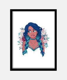 la jeune fille dans les fleurs