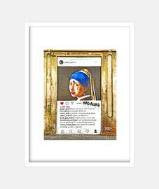 la jeune perle - cadre avec cadre blanc vertical 3: 4 (15 x 20 cm)