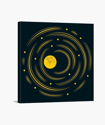 Lienzo la luna y las estrellas sueño