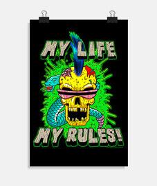 la mia vita, le mie regole! - poster verticale 2: 3 - (20 x 30 cm)
