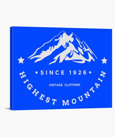 Lienzo la montaña más alta