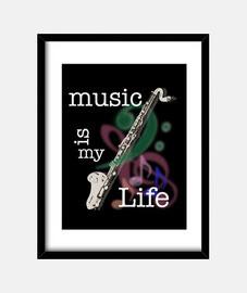 la musique est ma vie - clarinette bass