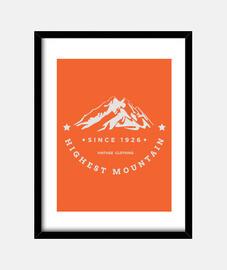 la plus haute montagne
