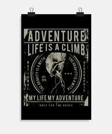 la vita è una climb
