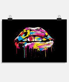 labios coloridos