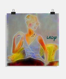 Lady néon