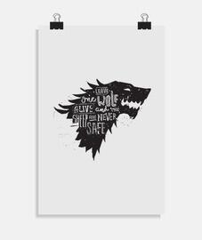 Laisse un loup vivant