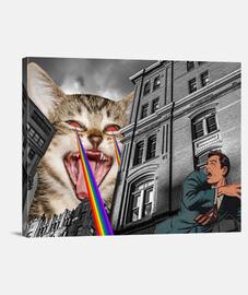 le chat frappe de back