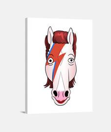 le cheval qui est tombé sur la terre