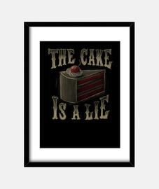 le gâteau est une impression de mensonge