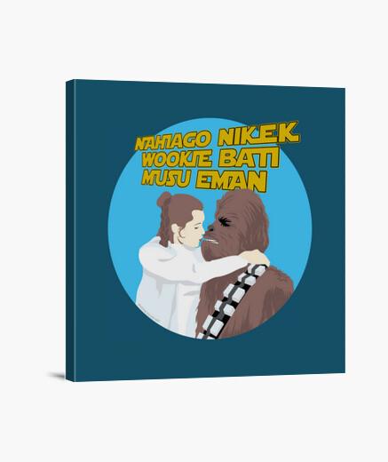 Lienzo Leia eta Chewbacca