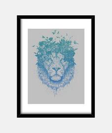 león floral