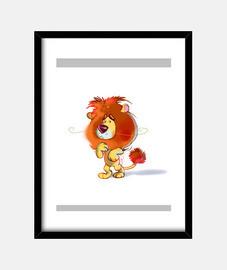 león tímido