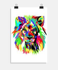 leone colorato