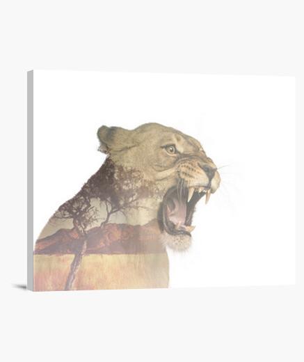 Stampa su tela leonessa
