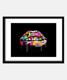 lèvres colorées